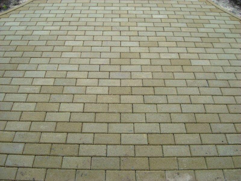 Тротуарная плитка Кирпич Стандартный (горчичный) 200х100 для пешеходной зоны (4 см)