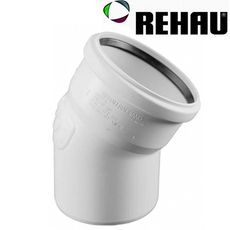 Rehau для внутр. канализации Отвод RAUPIANO PLUS 50 15°