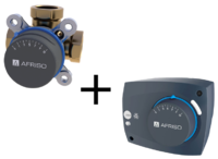 "AFRISO Комплект: ARV386 клапан 3-ходовой Rp 1 1/2"" DN40 kvs 26 + ARM323 электропривод 230В 60сек. 6Нм 3 точки (1338632)"