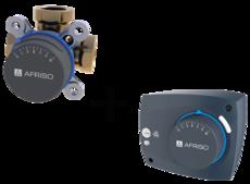 "AFRISO Комплект: ARV384 клапан 3-ходовой Rp 1"" DN25 kvs 12 + ARM323 электропривод 230В 60сек. 6Нм 3 точки (1338432)"