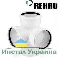 Rehau для внутр. канализации Крестовина двухплоскостная RAUPIANO PLUS 90/90/90 - 87