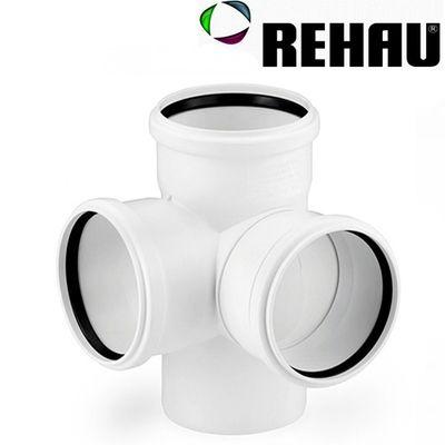 Rehau для внутр. канализации Крестовина двухплоскостная RAUPIANO PLUS 90/90/90 - 87 цены
