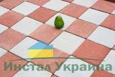 Тротуарная плитка Квадрат Большой 200х200 (красный) (6 см)