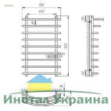 Полотенцесушитель Laris Каскад П9 450х900 mm