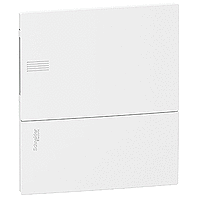 Schneider electric Щит встроеный MINI PRAGMA 1 ряд 8 модулей белые двери (MIP22108)