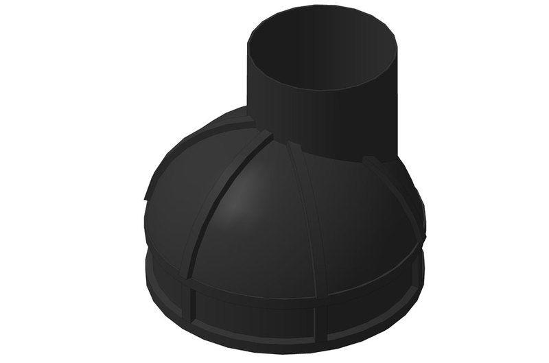 Колодец смотровой д.1100 мм (кольцо с дном 750 мм + конус + днище с лотком)