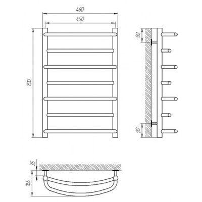 Полотенцесушитель Laris Евромикс П7 450х700 mm цена