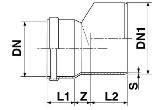 Мпласт Редукция DN 160/110 для наружной канализации