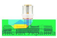 Пресс-фитинг тройник Herz 32x26x26 стенка 3 мм