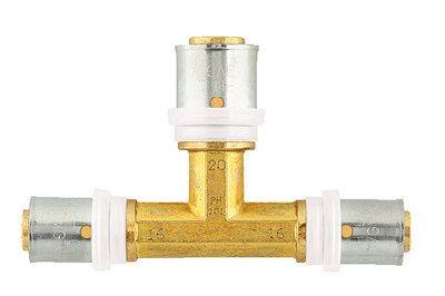 Пресс-фитинг тройник Herz 20х16х16 стенка 2 мм цены