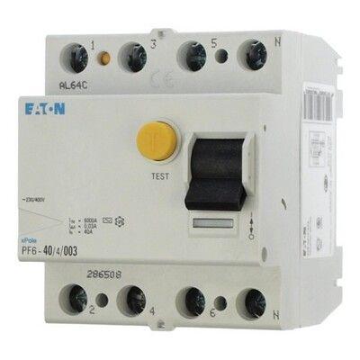 Eaton Дифференциальный выключатель напряжения PF6-40/4/0,03 (286508) цена