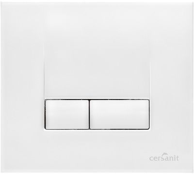 Кнопка Cersanit Link метал белая цена