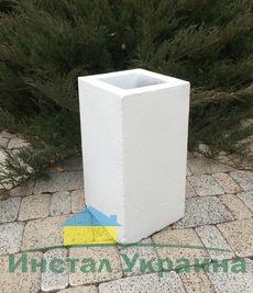 Бетонная ваза Прямоугольник большой 280х280х530 (белый)