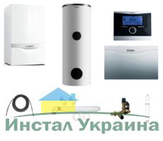 Пакет Vaillant ecoTEC plus VU OE 466+VIH R500 + VRC470 + VR 61 +Патрон для смягчения воды подпитки (0020200171)