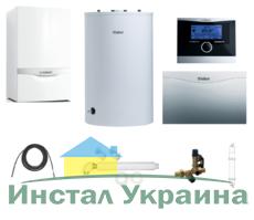 Пакет Vaillant ecoTEC plus VU OE 466+VIH R150 + VRC470 + VR 61 +Патрон для смягчения воды подпитки (0020200167)