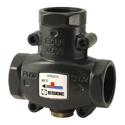 "ESBE VTC511 термический клапан Rp 11/4"" DN32 kvs 14 T=50 C (51020600) цена"