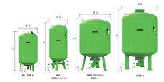 Гидроаккумулятор вертикальный Reflex Refix DT 7337705 2000L DT DN65/PN16 10 бар (мембрана сменная)