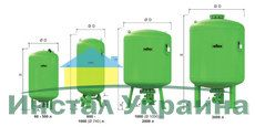 Гидроаккумулятор вертикальный Reflex Refix DT 7335805 80L DT DN 50/PN 16 (зеленый) 10 бар (мембрана сменная)