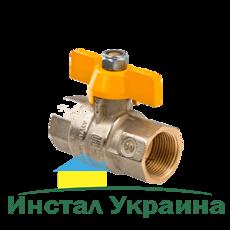 """79520006 Кран газовый шаровый MISSUORI GAS 3/4"""" ВВ """"бабочка"""" BONOMI"""