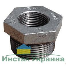 "SANHA 241 Переходник оцинкованный 3/8""х1/4"" НВ"