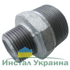 """SANHA 245 Переходник оцинкованный 2 1/2""""х6/4"""" НН"""