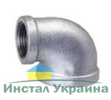 """SANHA 90R Колено редукционное оцинкованное 1""""х3/4"""" ВВ"""