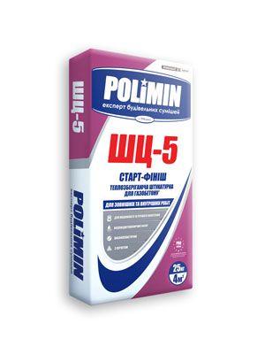 Polimin ШЦ-5 Старт-Финиш теплоизолирующая цементно-песчаная штукатурка для газобетона цены