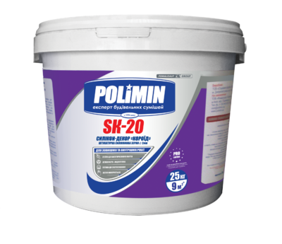 Polimin SK-20 Силикон-Декор Барашек прозрачная декоративная штукатурка зерно 2 мм. цена