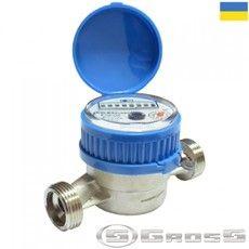 Счётчик водяной GROSS ETR-UA 20/130 без сгонов (для холодной воды)
