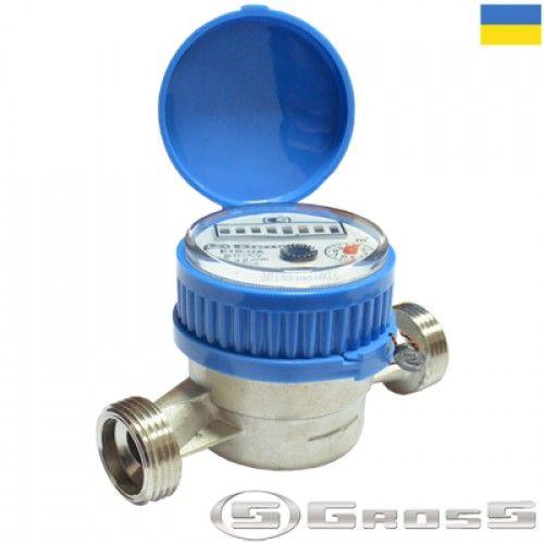 Счётчик водяной GROSS ETR-UA 15/110 без сгонов (для холодной воды)