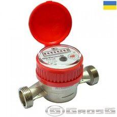 Счётчик водяной GROSS ETR-UA 15/110 без сгонов (для горячей воды)