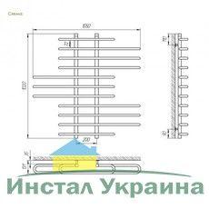 Полотенцесушитель Laris Диана П11 1050х1000 mm