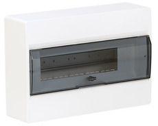 HAGER Щит навесной Сosmos 1 ряд 18 модулей прозрачные двери (VD118TD)