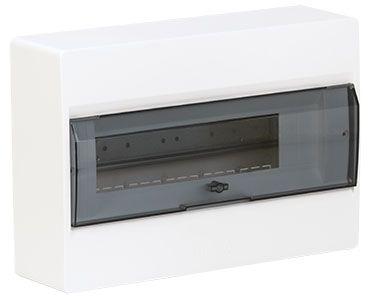 HAGER Щит навесной Сosmos 1 ряд 18 модулей прозрачные двери (VD118TD) цены