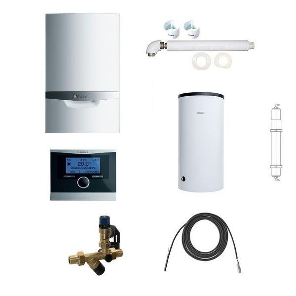 Пакет Vaillant ecoTEC plus VU OE 466/4+VIH R120+VRC470+Патрон для смягчения воды подпитки (0020200108)