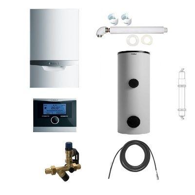 Пакет Vaillant ecoTEC plus VU OE 466/4+VIH R300+VRC470+Патрон для смягчения воды подпитки (0020200111) цена