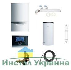Пакет Vaillant ecoTEC plus VU OE 466/4+VIH R150+VRC 470+Патрон для смягчения воды подпитки (0020200109)