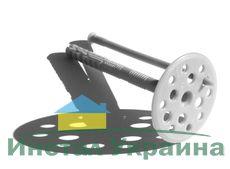 Дюбель Эконом серый для термоизоляции с пластиковым гвоздем 110х10