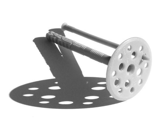 Дюбель Элит белый для термоизоляции с пластиковым гвоздем 180х10