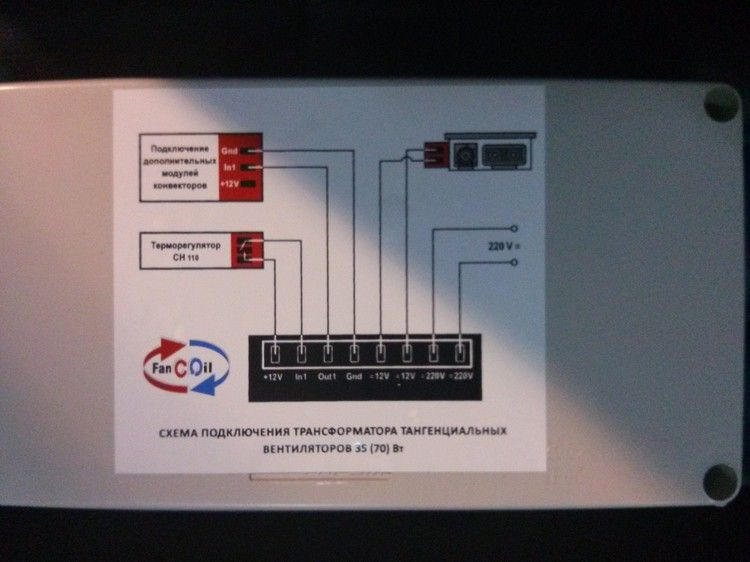 Трансформатор для внутрипольных конвекторов ТR 45 (24v) (45 W)