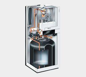 Газовый котел Viessmann Vitodens 222-F 26 кВт B2TA003 c Vitotronic 100 (постоянная температура подачи) двухконтурный цена