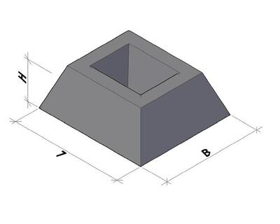 Фундамент для забора ФЗП1-2 цена