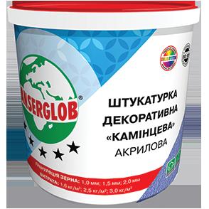 Anserglob Акриловая камешковая белая декоративная штукатурка зерно 1 мм.