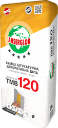 купить Anserglob ТМВ-120 Декоративная штукатурка камешковая 2,0 мм белая