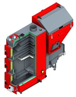 Твердотопливный котел Defro AKM 30 кВт цена