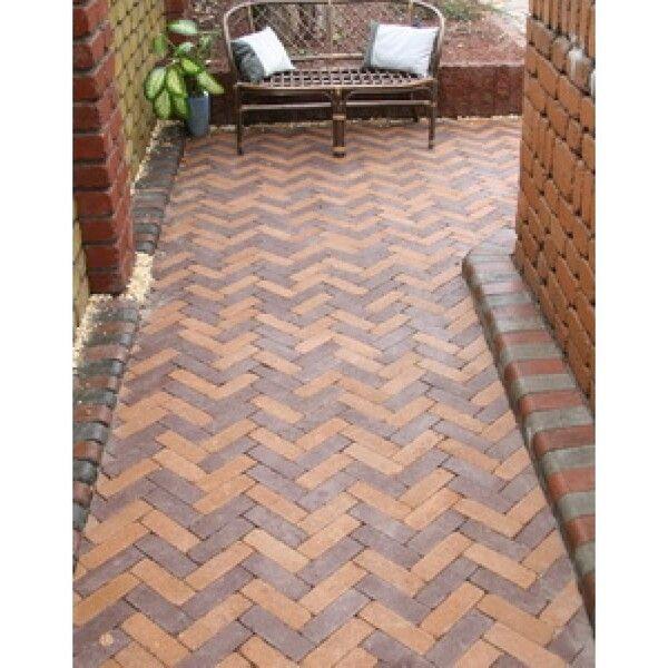 Тротуарная плитка Кирпич Барселона Антик 192х60 (коричневый) для пешеходной зоны (4 см)