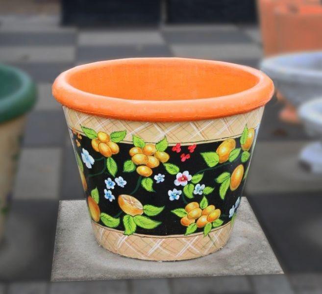 Бетонная ваза Большая (роспись)