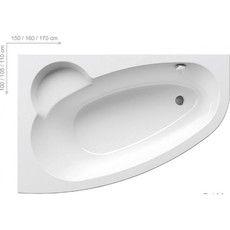 Акриловая ванна Ravak Asymmetric 160 x 105 R правосторонняя