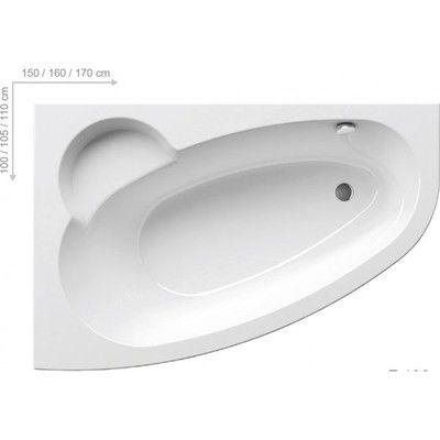 Акриловая ванна Ravak Asymmetric 160 x 105 L левосторонняя цена