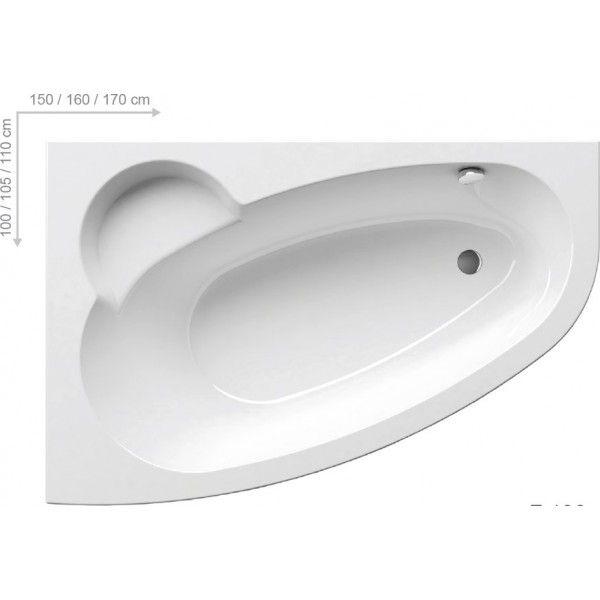 Акриловая ванна Ravak Asymmetric 160 x 105 L левосторонняя